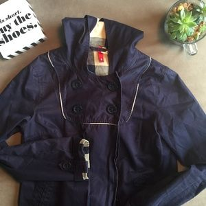 H&M Divided Hooded Trench Coat